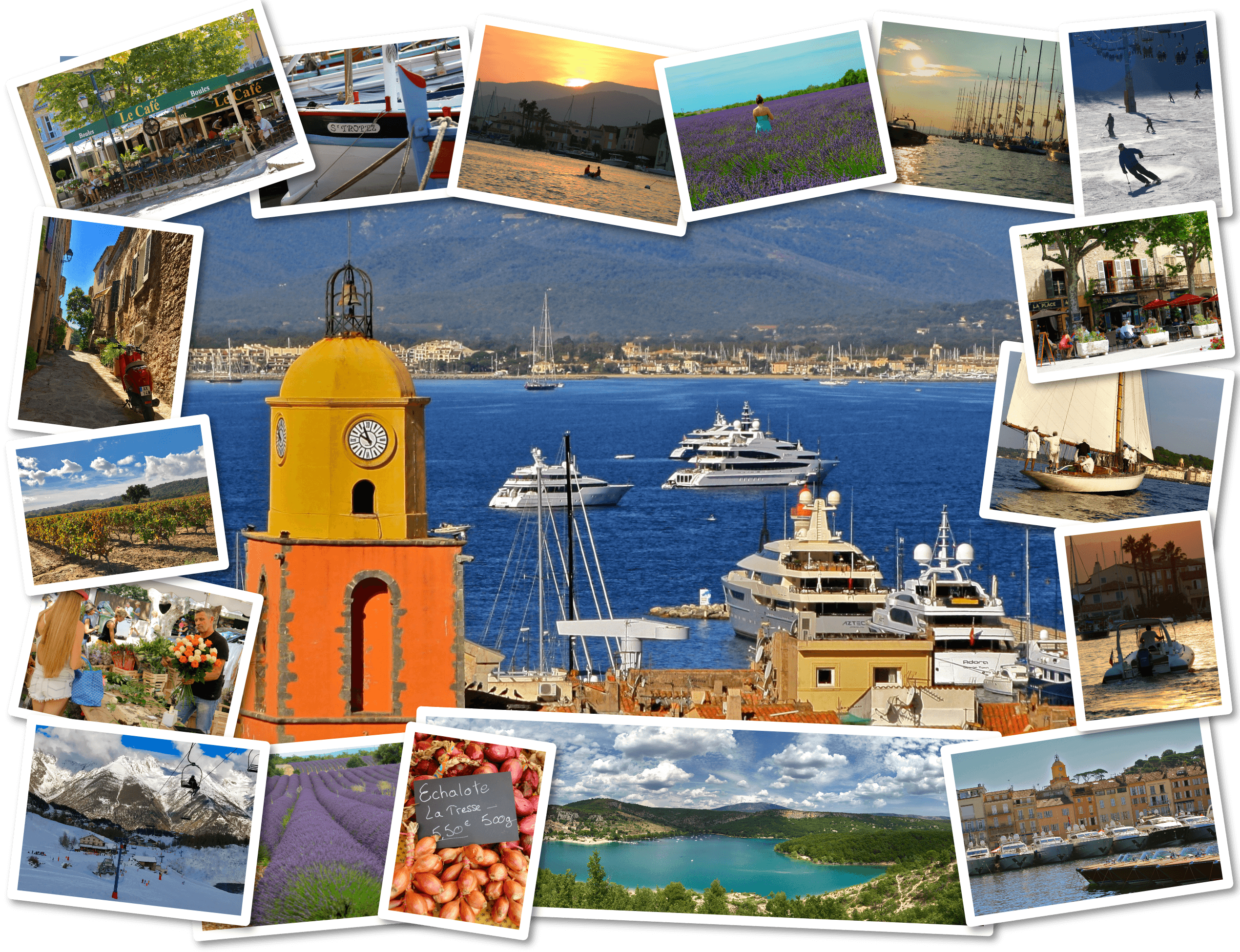 South of France Media Collage Image